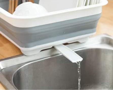 Égouttoir à vaisselle pliable avec égouttoir