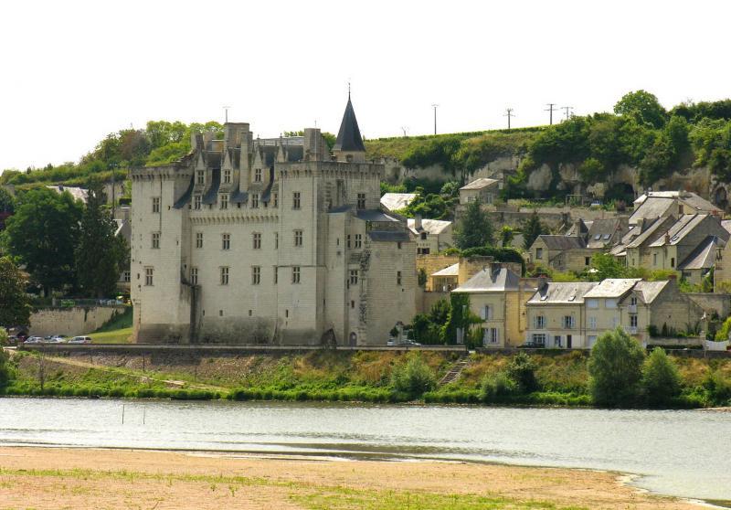 Château de Montsoreau vu de l'autre rive de la Loire