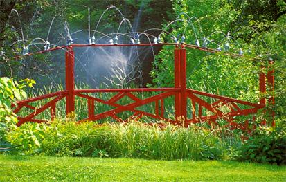 Jardin d'eau surprise au Château de Vendeuvre