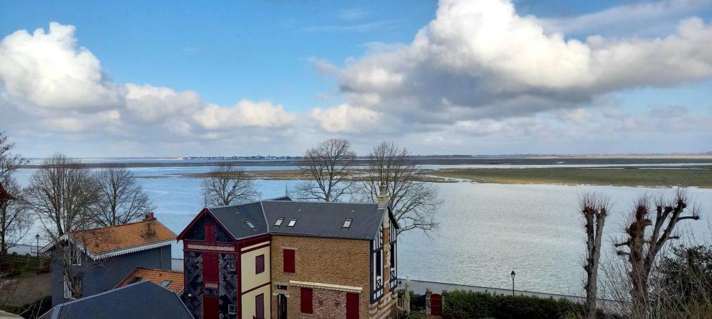 Vue sur la Baie de Somme depuis Saint-Valery