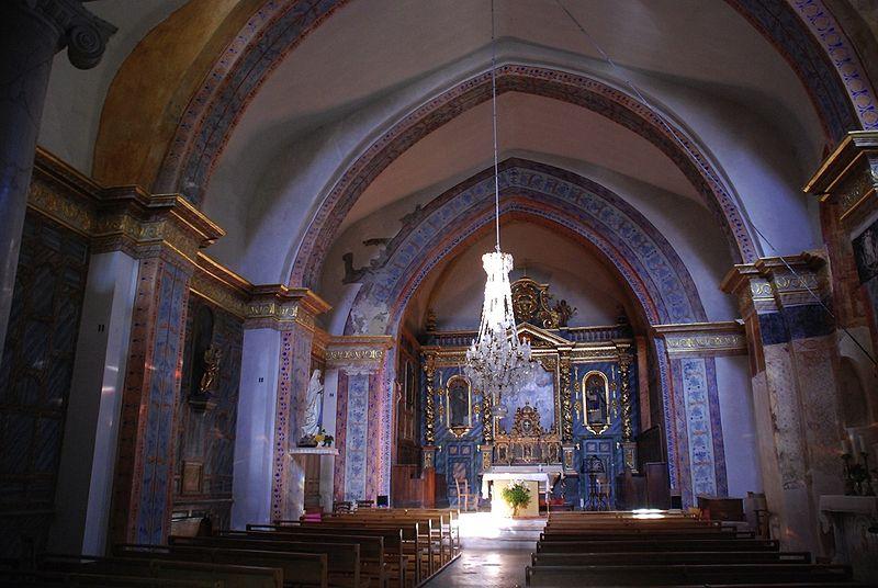 Eglise paroissiale à Montbrun-les-Bains