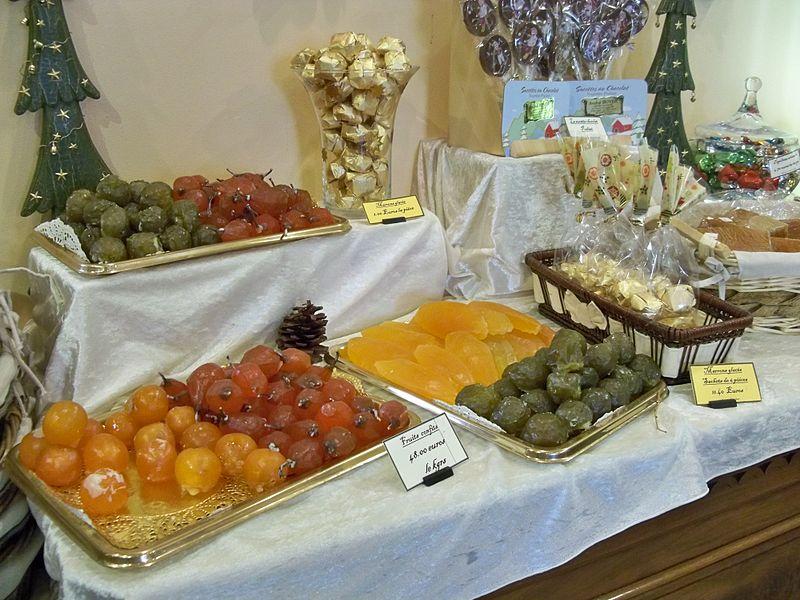 Fruits confits à Sault