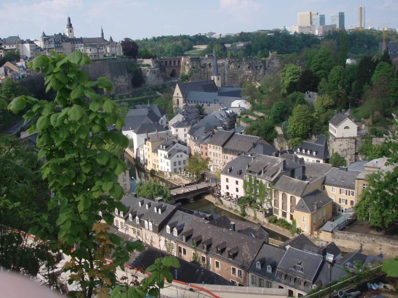 Vue de plateau Saint-Esprit sur Luxembourg-ville