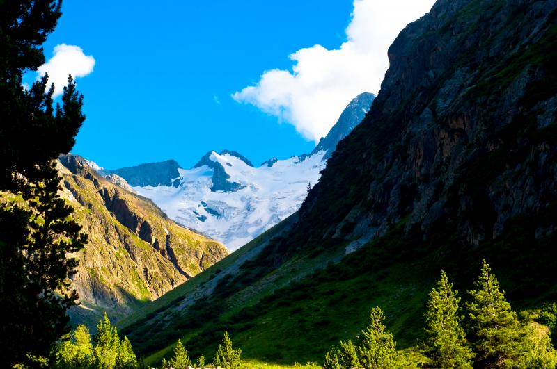 Glacier de la Pilatte près de Saint-Christophe-en-Oisans