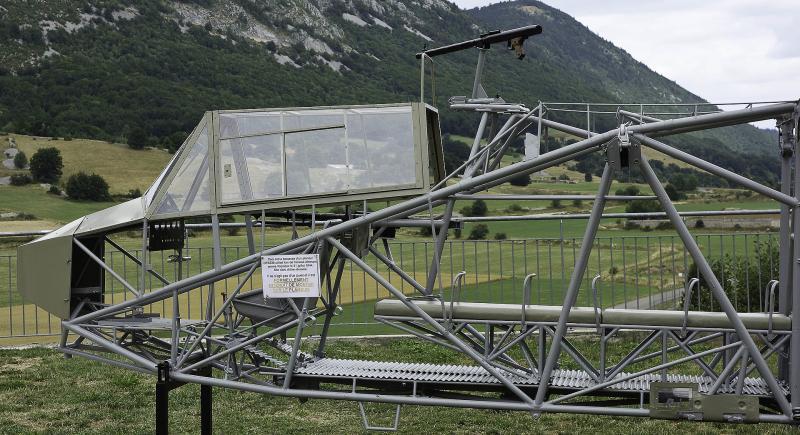 Carcasse de DFS-230 à Vassieux-en-Vercors